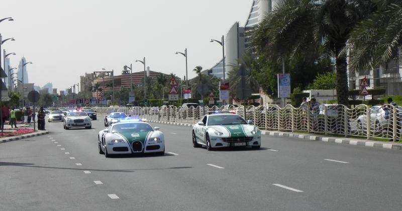 A Dubaji luxus rendőrautók világa