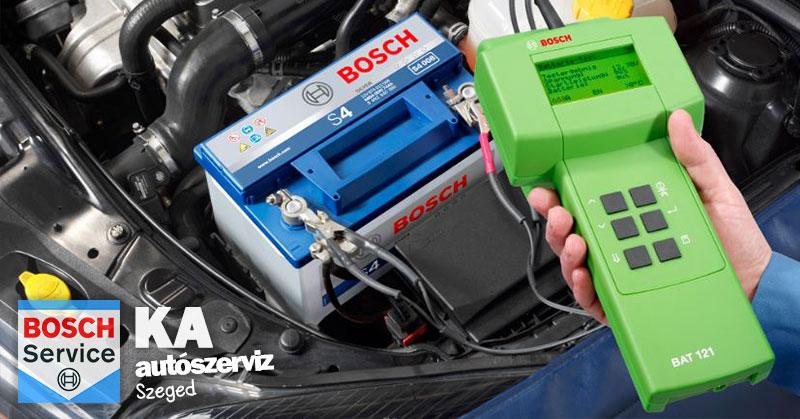 autó akkumulátor tesztelés
