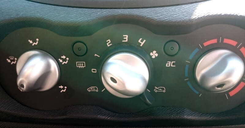Klímakapcsolók a kocsiban