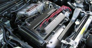 Mazda motorja az autóban
