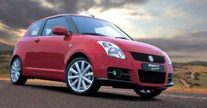 Piros Suzuki Swift Sport