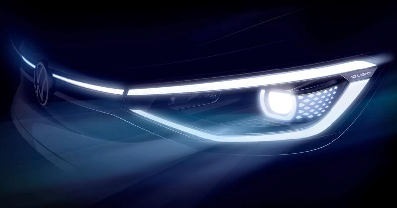 Volkswagen iD 4 a sötétben